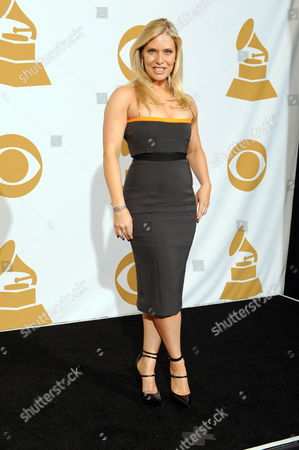 Stock Image of Us Actress Emily Proctor Poses For Photos in the Photo Deadline Room at the 51th Annual Grammy Awards at the Staples Center in Los Angeles California Usa 08 February 2009 United States Los Angeles