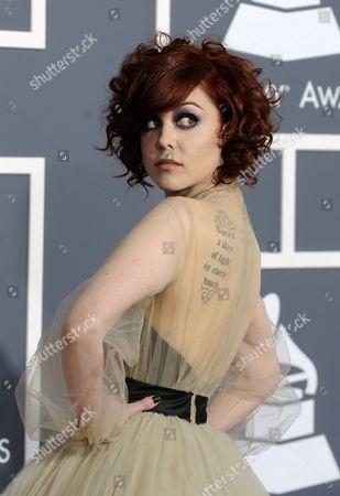 Us Singer Anna Nalick Arrives For the 53rd Annual Grammy Awards at Staples Center in Los Angeles California Usa 13 February 2011 United States Los Angeles