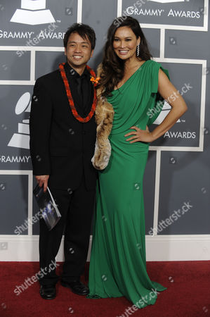 Us Actress-singer Tia Carrere (r) and Us Musician Daniel Ho Arrive For the 53rd Annual Grammy Awards at Staples Center in Los Angeles California Usa 13 February 2011 United States Los Angeles