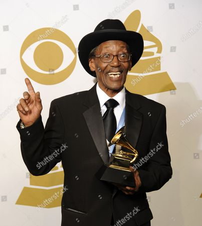 Us Singer Willie 'Big Eyes' Smith Holds His Award For Best Traditional Blues Album For Joined at the Hip in the Photo Room at the 53rd Annual Grammy Awards at Staples Center in Los Angeles California Usa 13 February 2011 United States Los Angeles