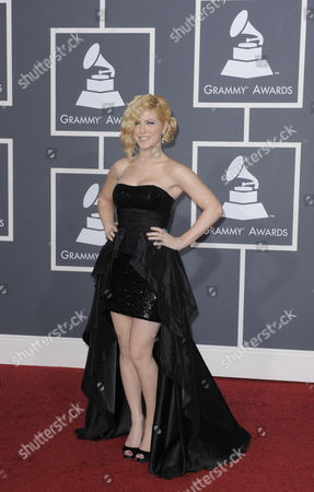 Kristine Elezaj of the Us Arrives at the 52nd Annual Grammy Awards at the Staples Center in Los Angeles California Usa 31 January 2010 the Grammys Are Presented Annually by the National Academy of Recording Arts and Sciences of the United States For Outstanding Achievements in the Music Industry United States Los Angeles