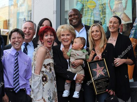 Us Singer Jane Morgan (c Holding Child) Poses with Family Members During a Ceremony Honoring Her with a Star on the Hollywood Walk of Fame in Hollywood California Usa 06 May 2011 Morgan Received the 2439th Star on the Hollywood Walk of Fame United States Hollywood