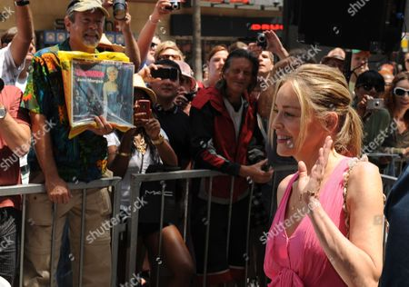 Us Actress Sharon Stone Waves to Spectator During a Ceremony Honoring Us Singer Jane Morgan with a Star on the Hollywood Walk of Fame in Hollywood California Usa 06 May 2011 Morgan Received the 2439th Star on the Hollywood Walk of Fame United States Hollywood