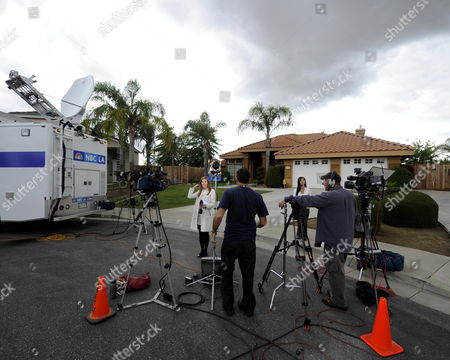 Stock Picture of Media Descend at the Home of Mildred Patricia Baena in Bakersfield California Usa 18 May 2011 Baena is the Housekeeper That Worked For Arnold Schwarzenegger and Maria Shriver For 20 Years and was Also the Mother of the Son Schwarzenegger Fathered While Working For the Family in Their Brentwood Mansion Schwarzenegger's Disclosure to His Wife About the Son He Had with Ms Baena Led to the Couple's Separation Earlier This Year United States Bakersfield
