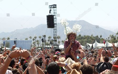 Nic Offer of the Dance-punk Band !!! Performs in the Crowd at the Coachella Music and Arts Festival at the Empire Polo Grounds in Indio California Usa 15 April 2011 United States Indio