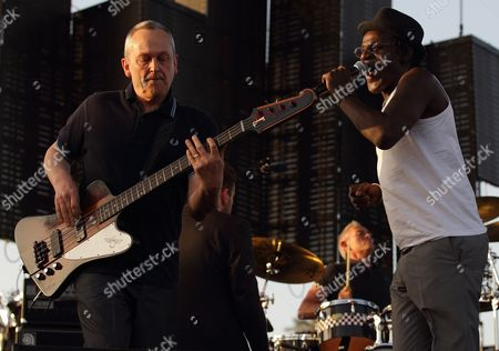 Horace Painter (l) John Bradbury (c) and Neville Staple (r) of the Uk Band the Specials Perform at the Coachella Music and Arts Festival in Indio California Usa 16 April 2010 the Coachella Music Festival is a Three Day Festival Attended by Some 75 000 Peolpe United States Indio