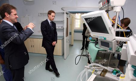 Prince William with Prof David Cunningham Consultant at the Gastro-intestinal unit in the new Endoscopy Unit