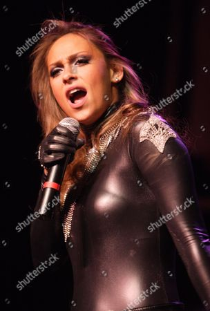 Stock Photo of Us Recording Artist Kaci Battaglia Performs on Stage in Concert at the Murat Egyptian Room in Indianapolis Indiana Usa 10 December 2009 United States Indianapolis