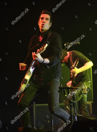 Tyler Connolly of the Canadien Band Theory of a Deadman Performs During the Avalanche Tour in Fort Wayne Indiana Usa 29 March 2011 United States Fort Wayne
