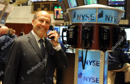 Chairman and Ceo of Coach Inc Lew Frankfort Poses on the Floor of the New York Stock Exchange in New York New York Usa on 05 October 2010 Stocks Closed Up Almost 200 Points Following News of Japanese Interest Rates United States New York