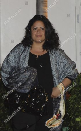 Stock Image of Maya Soetero-ng Half Sister of Us President Barack Obama Leaves Alan Wong's Restaurant in Honolulu Hawaii 27 December 2009 After Having Dinner with Obama and First Lady Michelle Obama United States Honolulu