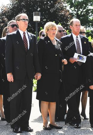 Steve Ford (r) Susan Ford Bales (2-r) Mike Ford (2-l) and Jack Ford (l) the Children of Former First Lady Betty Ford Stand in the Procession at the Gerald R Ford Presidential Museum As They Return For Their Mother's Burial Following Funeral Services in Grand Rapids Michigan Usa 14 July 2011 Betty Ford who was the Wife of the Late Former Us President Gerald Ford Started the Betty Ford Clinic For Drug and Alcohol Rehabilitation Died at the Age of 93 and Will Be Buried Next to Her Husband at the Museum in Michigan United States Grand Rapids