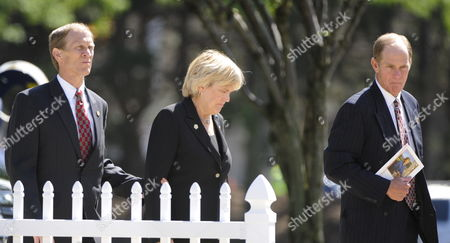 Mike Ford (l) Susan Ford (c) and Steve Ford (r) Children of Former First Lady Betty Ford Return to the Gerald R Ford Presidential Museum For Their Mother's Burial Following Funeral Services in Grand Rapids Michigan Usa 14 July 2011 Betty Ford who was the Wife of the Late Former Us President Gerald Ford Started the Betty Ford Clinic For Drug and Alcohol Rehabilitation Died at the Age of 93 and Will Be Buried Next to Her Husband at the Museum in Michigan United States Grand Rapids