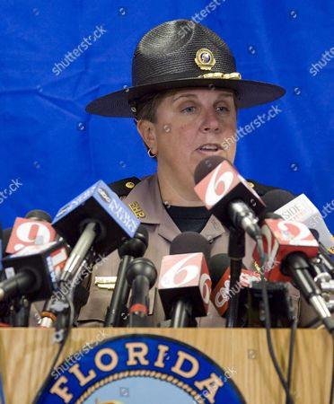 Major Cindy Williams Commander of Troop D of the Florida Highway Patrol (fhp) Announces the Conclusion of Investigation of a Traffic Accident Involving Professional Golfer Tiger Woods in Orlando Florida Usa 01 December 2009 Tiger Woods was Involved in an Auto Accident 27 November 2009 Inside the Gated Community of Isleworth Country Club where He Lives and was Taken to the Hospital Treated and Released with Facial Lacerations the Highway Patrol Issued Woods a Florida Uniform Traffic Citation For Careless Driving United States Orlando