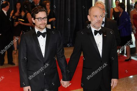 Us Musician Michael Stipe (r) and His Partner Artist Thomas Dozol (l) Arrive For the White House Correspondents' Association (whca) Dinner in Washington Dc Usa 30 April 2011 the Event is Being Attended by Celebrity Guests Us President Barack Obama and the First Lady and Members of the Obama Administration United States Washington