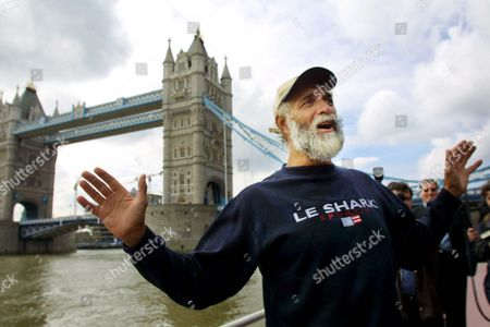 London United Kingdom: Jim Shekhtar Poses For a Photograph Beside Tower Bridge in London 09 April 2001 Shekhtar was the First Man to Row Across the Pacific Ocean Non-stop and Unaided Shekhtar is Back in the Uk After Completing His Personal Challenge Which Took 274 Days to Row the 10 000 Miles From Peru to Australia During His Voyage Shekhtar Encountered Sharks As Well As Being Nearly Rammed by an Oil Tanker