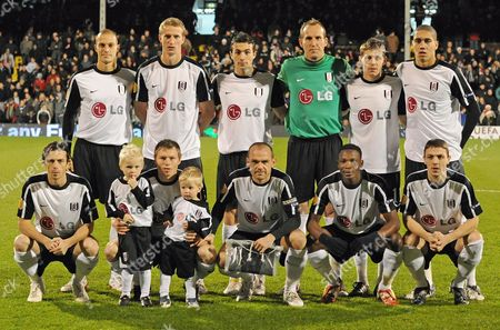 A Picture Made Available on 04 December Shows Fulham Team Lining Up (back Row L-r) Bobby Zamora Brede Hangerland Stephen Kelly Mark Schwarzer Zoltan Gera Christopher Smalling (front Row L-r) Simon Davis Bjorn Helge Riise Danny Murphy (captain) John Pantsil and Chris Baird For the Europa League Group E Match Against Cska Sofia at Craven Cottage London Britain 03 December 2009 United Kingdom London