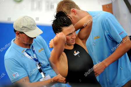 Austrian Swimmer Mirna Jukic Prepares During the Training Session at the 13th Fina World Championship in Foro Italico Swimming Complex in Rome Italy 24 July 2009 Italy Rome