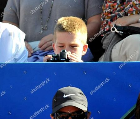 Editorial photo of Spanish Royals at Conde Godo tennis tournament in Barcelona, Spain - 04 May 2008