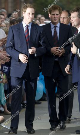 Prince William and Prince Harry with Geoffrey Matthews their new PR Management Specialist