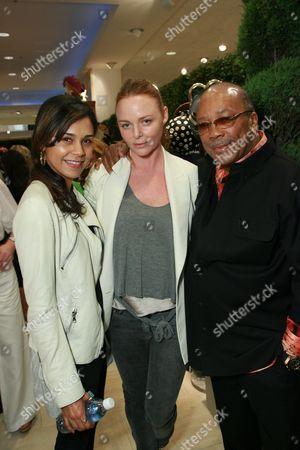 Kidada Jones, Designer Stella McCartney and Quincy Jones
