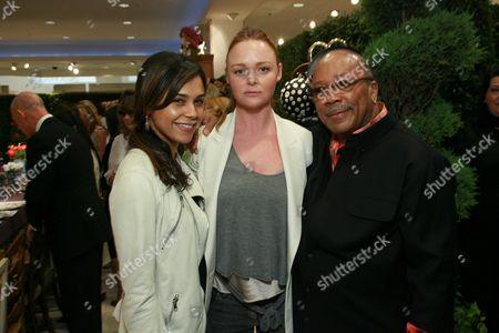 Stock Picture of Kidada Jones, Designer Stella McCartney and Quincy Jones