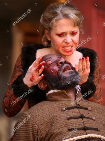 Kellie Bright asRegan and Joseph Mydell as Gloucester