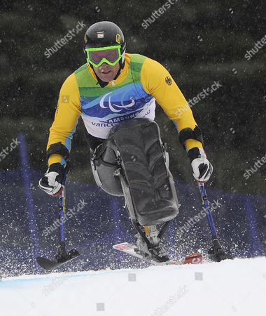 Martin Braxenthaler of Germany in Action During the Men's Giant Slalom Sitting Competition at the Vancouver 2010 Paralympic Games 16 March 2010 Canada Whistler