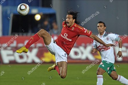 Al-zamalek Player Mohamed Abdel-shafy (l) Vies For the Ball with Al-ahly Player Mohamed Talaat (r) During Their Egyptian Tournament Soccer Match in Cairo Egypt 30 December 2010 Egypt Cairo