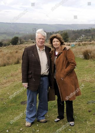 Actor William Simons who plays P.C Alf Ventress in the TV series Heartbeat with his wife Jackie at their home on the North Yorkshire Moors.