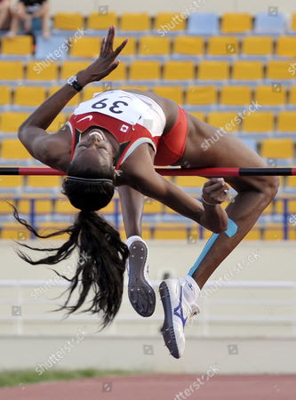 Nicole Forrester of Canada Competes in the Women's High Jump Event During the Sixth Francophone Games at the Camille Chamoun Sports City Stadium in Beirut Lebanon 02 October 2009 Lebanon Beirut