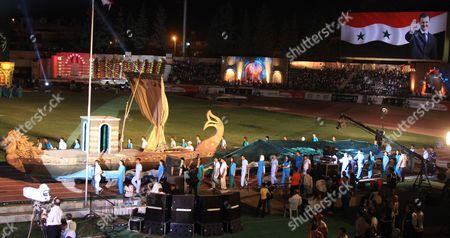 The Syrian Inana Dance Theater Group Performs During the Opening Ceremony of the Special Olympics 7th Mena Regional Games For Handicapped at the Tishrin Stadium in Damascus Syria on 25 September 2010 the Event is Held Under the Auspices of Asma Al-assad the Syrian First Lady and the Honorary Chairwoman of the Special Olympics in Syria Some 1 600 Athletes From 23 Middle East and North African (mena) Countries Will Compete in 15 Different Disciplines Syrian Arab Republic Damascus