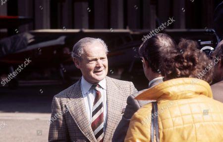 Douglas Bader being interviewed