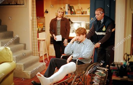 'Get Real'   TV  Lindsay Duncan with Lloyd Owen (in chair) and Dominic Carter