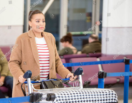 As Steph Britton, as played by Tisha Merry, waits for Andy at the airport she confides in Luke that their relationship has been under a lot of strain recently and she wouldn?t be surprised if Andy didn?t show up. (Ep 9083 - Fri 20th January 2017)