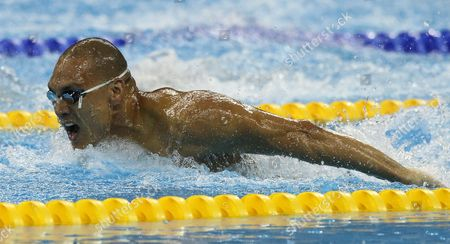Stock Image of Geoff Huegill of Australia Swims Competing in the Men's 100m Butterfly Heats at the 2011 Fina World Swimming Championships in Shanghai China on 29 July 2011 China Shanghai