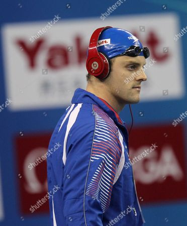 Gold Medallist Liam Tancock of Britain Walks to the Deck For the Men's 50m Backstroke Finals at the 2011 Fina World Swimming Championships in Shanghai China on 31 July 2011 China Shanghai