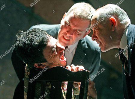Justin Salinger (Stan), Lloyd Hutchinson (McCann) and Nicholas Woodeson (Goldberg)