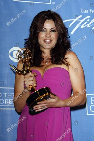 Us Actress Julie Pinson (winner Outstanding Supporting Actress in a Drama Series - 'As the World Turns') Poses in the Press Room at the 37th Annual Daytime Entertainment Emmy Awards Held at the Las Vegas Hilton Hotel in Las Vegas Usa 27 June 2010 the Daytime Entertainment Emmy Awards Recognize Outstanding Achievement in All Fieldsof Daytime Television Production United States Las Vegas