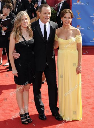 Us Actor Bryan Cranston (c) Arrives with His Wife Robin Dearden (r) and Daughter Taylor Dearden Cranston (l) at the 62nd Annual Primetime Emmy Awards Held at the Nokia Theatre in Los Angeles California Usa 29 August 2010 the Primetime Emmy Awards Honor Excellence in Us Primetime Television Programming United States Hollywood