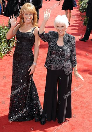 Us Actress Kathy Griffin (l) and Her Mother Maggie Griffin (r) Arrive at the 62nd Annual Primetime Emmy Awards Held at the Nokia Theatre in Los Angeles California Usa 29 August 2010 the Primetime Emmy Awards Honor Excellence in Us Primetime Television Programming United States Hollywood
