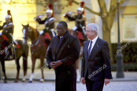 Macky Sall, President of Senegal and Claude Bartolone