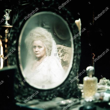 'Great Expectations' TV Film - 1974 - Miss Haversham (Margaret Leighton) Seen in a Mirror