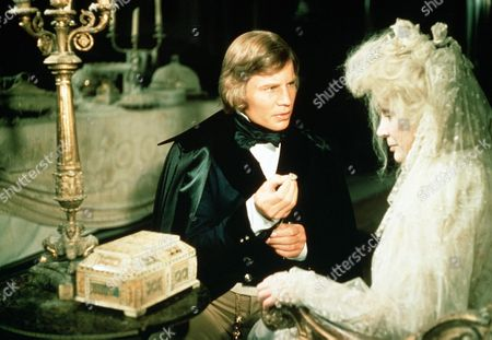 'Great Expectations' TV Film - 1974 - Pip (Michael York) Kneels Down and Shows a Ring to Miss Haversham (Margaret Leighton)