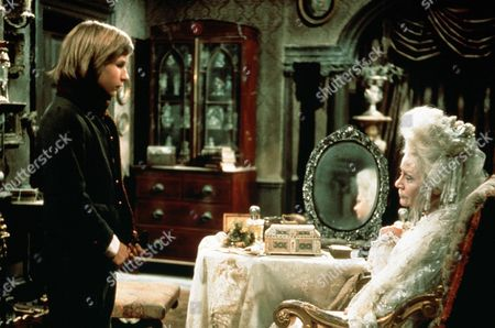 'Great Expectations' TV Film - 1974 -  Young Pip (Simon Gipps-Kent) Stands and Talks to a Sitting Miss Haversham (Margaret Leighton), Whose Face is Reflected in a Mrror