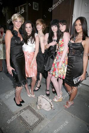 Stock Photo of Lianna Fowler, Lauren Stanley, Lynzi Arnott, Sophie Roberts, Rachel Cairns and Stefanie Wilson - Britain's Next Top Model Contestants