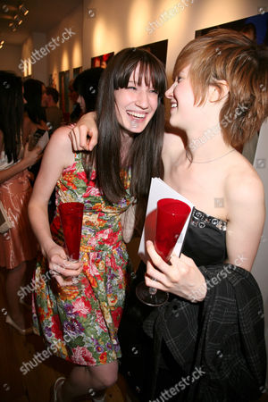 Stock Image of Lynzi Arnott and Rachel Cairns - Britain's Next Top Model Contestants