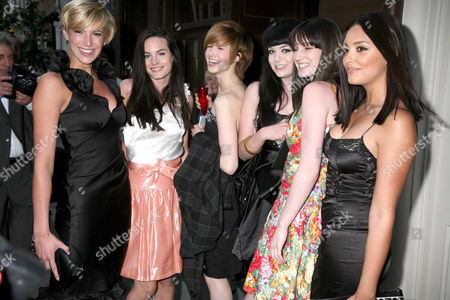 Stock Picture of Lianna Fowler, Lauren Stanley, Lynzi Arnott, Sophie Roberts, Rachel Cairns and Stefanie Wilson - Britain's Next Top Model Contestants