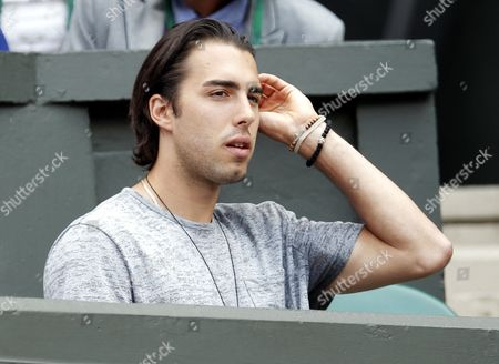 Basketball Player Sasha Vujacic on Centre Court For the Women's Singles Final Between Maria Sharapova of Russia and Petra Kvitova of the Czech Republic For the Wimbledon Championships at the All England Lawn Tennis Club in London Britain 02 July 2011 United Kingdom Wimbledon