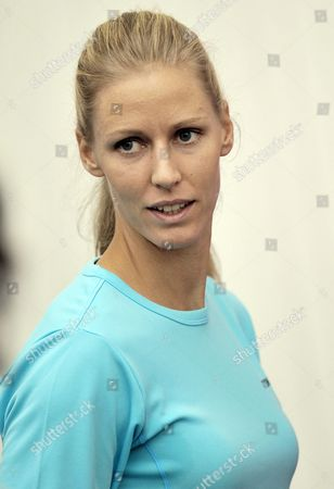 Elena Dementieva of Russia Speaks at a Press Conference After Announcing Her Retirement Following Her Match Against Francesca Schiavone of Italy During Day Four of the Wta Championships at the Khalifa Tennis Complex Doha Qatar on 29 October 2010 Qatar Doha